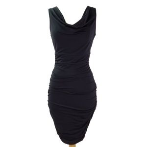 Boston Proper Black Ruched Dress Size 2 - NWT